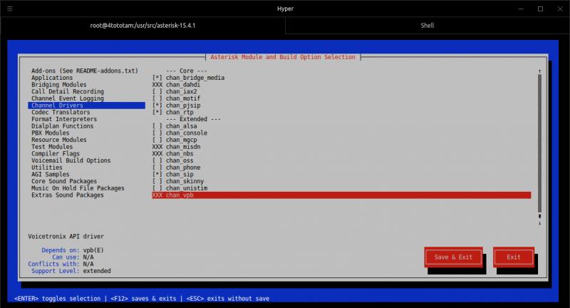 Asterisk 15 installation on Centos 7 and basic configuration
