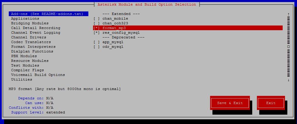 Install Asterisk 15 - Debian (basic-pbx)