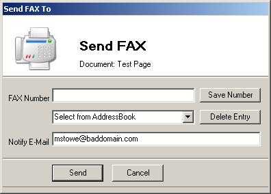 what does a fax look like